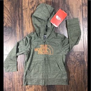 NWT the north face zip up hooded sweater